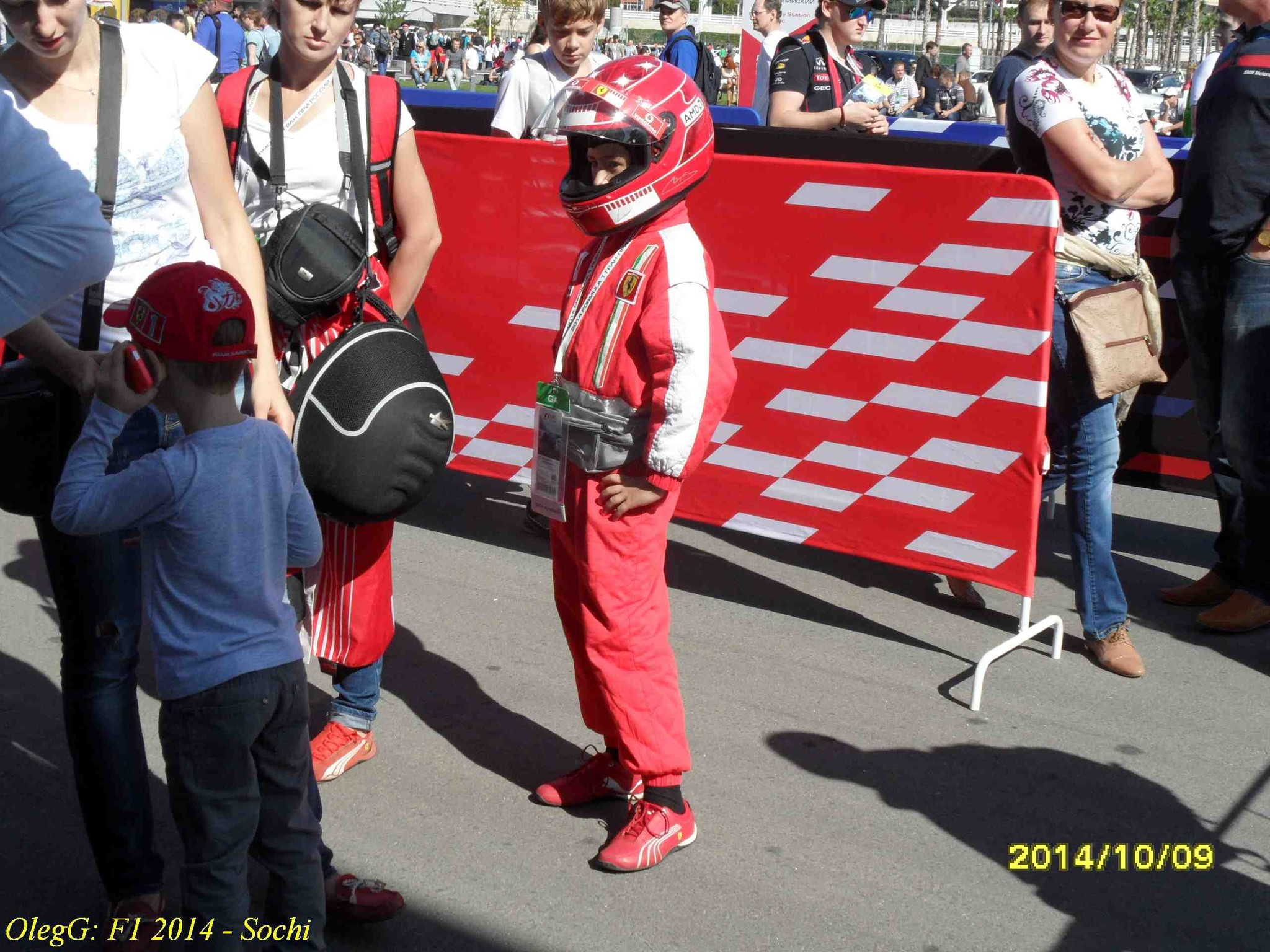 Young Ferrari fanatic in the Sochi
